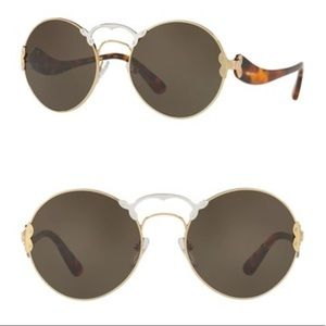 Prada Round Catwalk 57mm Sunglasses